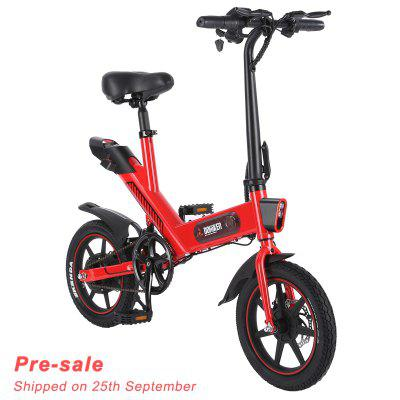 Pre-sale DOHIKER Y1 Folding Electric Bicycle 350W 36V Waterproof Electric Bike with 14inch Wheels 10Ah Rechargeable Battery Image