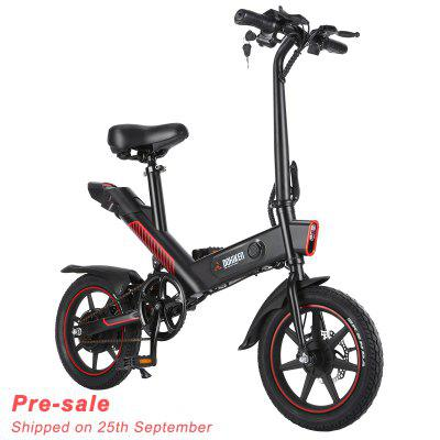 Pre-sale DOHIKER Y1 Folding Electric Bicycle 350W 36V Waterproof Bike with 14inch Wheels 10Ah Rechargeable Battery