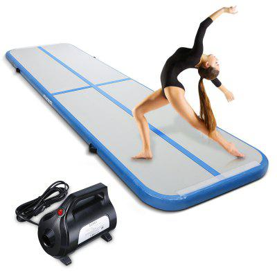 KUOKEL 4m Inflatable Gymnastic Mat With Electric Air Pump Gymnastics Track For Indoor And Outdoor Use