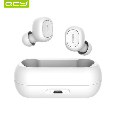 QCY qs1 T1C TWS V5.0 Wireless Earphones Bluetooth headphone 3D Stereo Sound Earbuds Dual Microphone