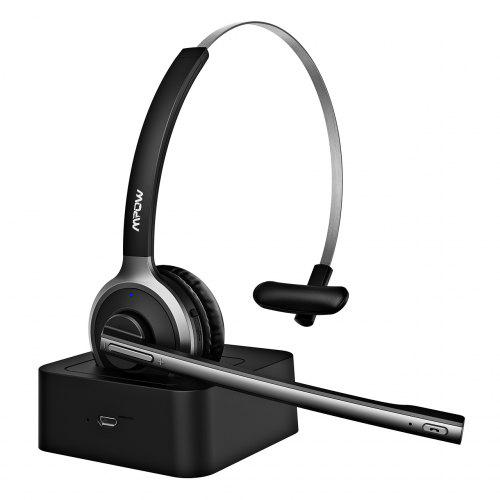 Mpow M5 Pro Bluetooth Headphone Office Headset With Noise-Suppressing Mic And Charging Dock For PC