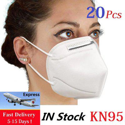 Fast Shipping 20PCS KN95 N95 Face Masks Surgical Respirator Mask Air Filter Protective 4-Layers Mask