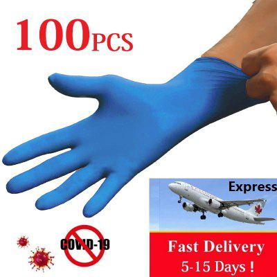 Express Delivery 100PCS Disposable Gloves Protective Gloves Medical Anti-virus Safe Working Gloves