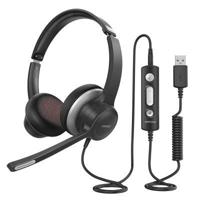 Mpow 328 Wired USB Headphone 3.5mm Computer Headset With Microphone Business Headset For Skype PC