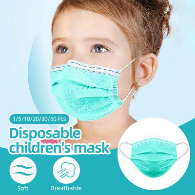 Professional Kids Children Mask 3-Layers Disposable Breathable Face Mask PM2.5 Soft Kids Mask