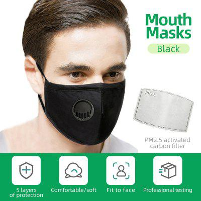 Adults Respirator Mask With Breathing Valve PM2.5 Cotton Activated Carbon Filter Non-medical Masks