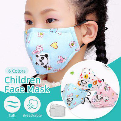 Kids Children Cartoon Face Mask with 2 Filter Pads Cotton Activated Carbon Mask Non-medical Mask