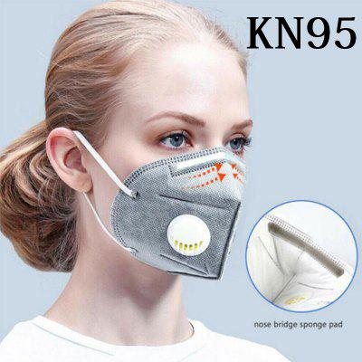 KN95 N95 Respirator Mask With Breath Valve 6-layers Filtration Adults Non-medical PM2.5 Face Mask