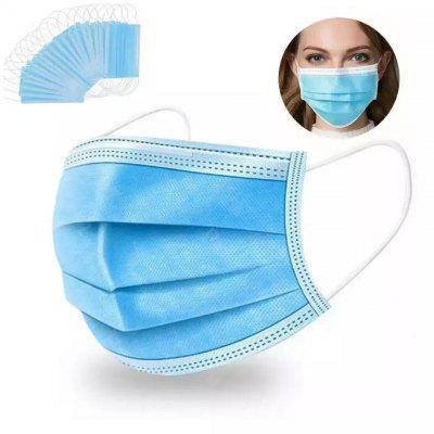 Disposable Face Masks Elastic Earloop Dustproof Anti-bacteria Spit Splash Protection