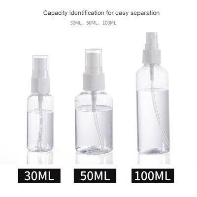 Transparent Empty Spray Bottles Plastic Mini Refillable Container Empty Cosmetic Containers