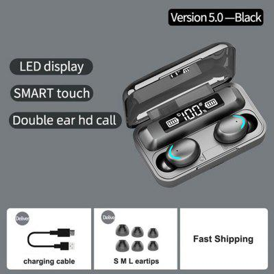 Фото - F9-5 TWS Wireless Earphones Bluetooth Earphones 5.0 9D Bass Stereo waterproof Earbuds Handsfree Headset With Microphone Charging Case headphones for samsung galaxy s9 s8 plus s8 handsfree earphones