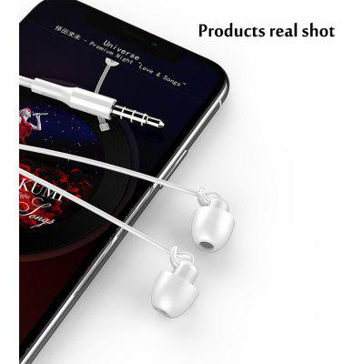Sleep Headphones HiFi Soft Silicone Soundproof In-Ear Headphones With Wheat Wired