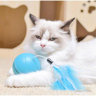 Cat Toys Pet Products USB Feather Light Ball Electric Led Rolling Laser Ball Interaction
