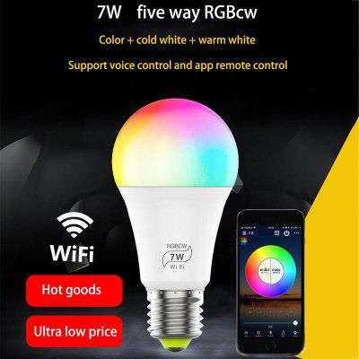 7W Intelligent WiFi Bulb Colorful Color Change Support Alexagoogle Voice Control Bulb E27
