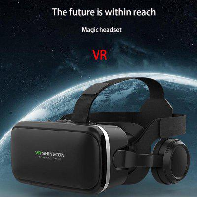 VR Glasses 3D Virtual Reality Eye Lens With Earphone