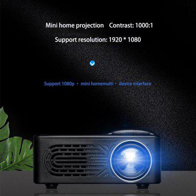 Mini Home Projector Led Portable Mini Projector Supports 1080p HD Projection
