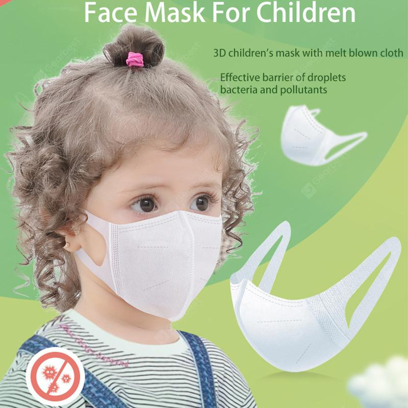 Children Disposable Mask 3D Breathable Protective Mask Ordinary Nonmedical Mask Ten in a pack - China White