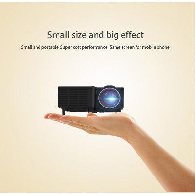 Home Mini Phone Projector Uc28c Small LED HD Home Portable Cable Connected Mobile Phone With The Same Screen