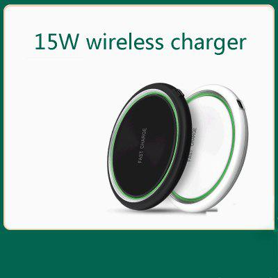 The Wireless Charger Is Suitable For 8pin And Huawei Mobile Phones Ultra-Thin Round Fast Charging
