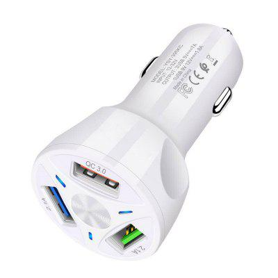 3A3Usb Qc3.0 Car Charger Fast Charge Car Charger One For Three Mobile Phone Car Charger
