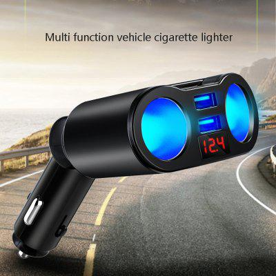 Mini Dual Usb Cigarette Lighter One For Two Car Charger With Led Digital Display Fast Charging Car Charger