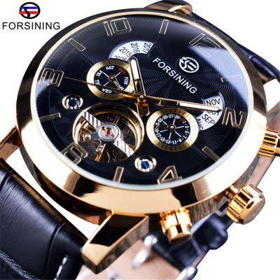 Forsining 3271 Tourbillion Watches with Multi Function Automatic Mechanical for Man