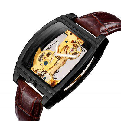 SHENHUA Automatic Mechanical Watch with Steampunk Skeleton Self Winding for Man