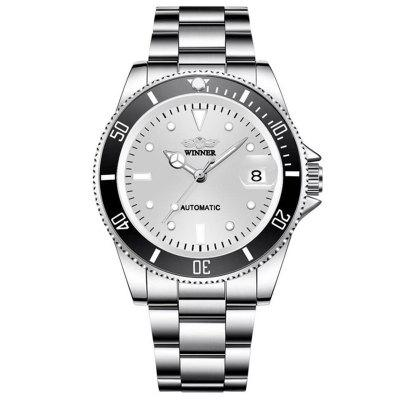 Winner Mechanical Watch with Stainless Steel Automatic Date for Man