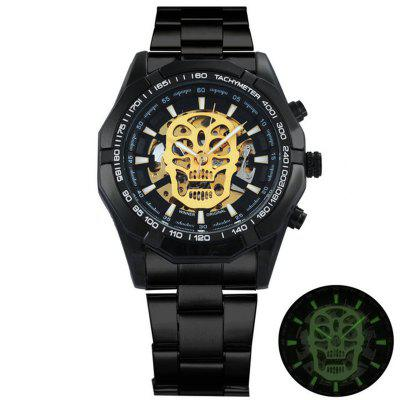 FORSINING TM340 Retro Automatic Mechanical Skeleton Mens Brand Luxury Watch