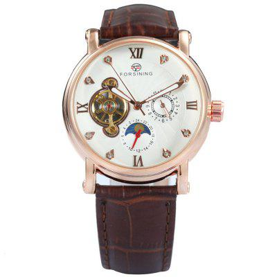 FORSINING F800 Mens Brand Fashion Leather Automatic Mechanical Watch Watch