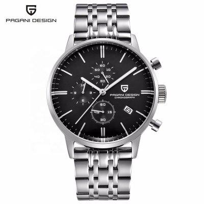 PAGANI DESIGN 2720 men Quartz watch Stainless Steel Band Watch Chronograph Military Watches
