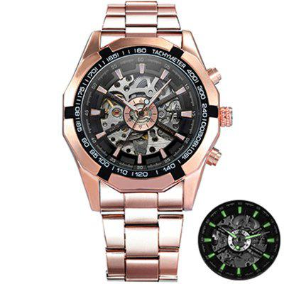 FORSINING WINNER TM340 Retro Automatic Mechanical Skeleton Mens Brand Luxury Watch