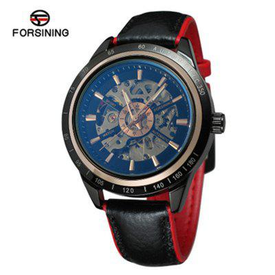 New Forsining F340S Mens Fashion Casual Hollow Waterproof Automatic Mechanical Watch