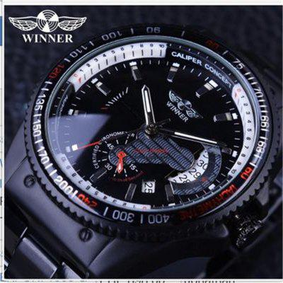 WINNER Hot Sale Mens Watches Quality Auto Mechanical Auto-wind Wristwatches Fashion Luxury Sports Metal Alloy Band Watch