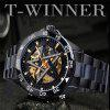 winner Mens Fashion Casual Pentagram Automatic Mechanical Watch