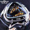 winner Mens Fashion Casual Hollow Triangle Large Dial Automatic Mechanical Watch