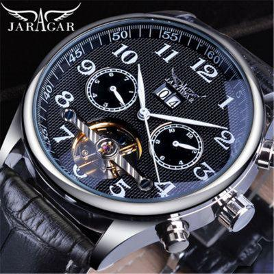Mens Fashion Casual Hollow Multifunctional Flywheel Mechanical Automatic Mechanical Watch