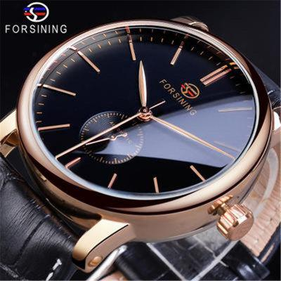 FORSINING Mens Fashion Casual Simple Mechanical Movement Automatic Mechanical Watch