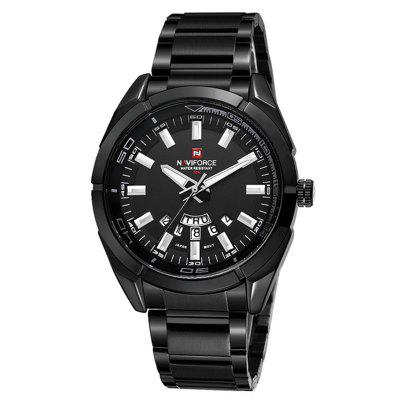 NAVIFORCE Mens Brand Watches Waterproof Steel Wristwatch Casual Quartz Sports Military Wristwatch