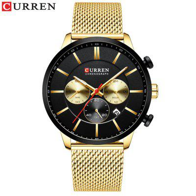 CURREN Mens Fashion Business Casual Waterproof Quartz Wrist Watch Steel Watch