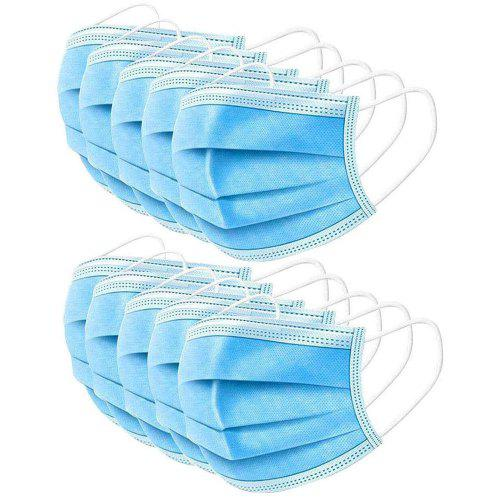 100PCS Disposable Mouth Mask 3Ply Dust  Nonwoven Elastic Earloop Mouth Face Masks