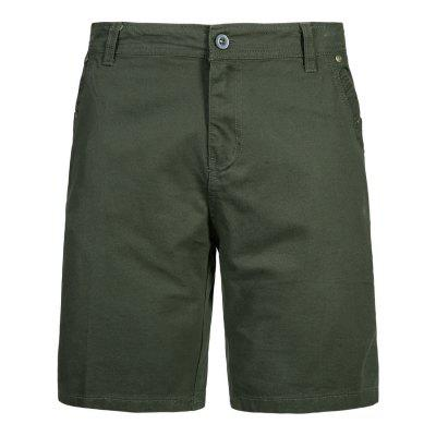 Men Summer Solid Color Straight Casual Shorts YK052