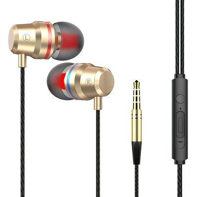 High quality metallic stereo dynamic mobile earphones