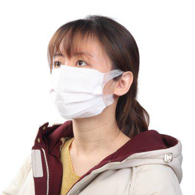 50pcs 3-Ply Disposable Face Mask Non-medical with Widen Elastic Earloop White
