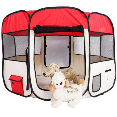 Kennel Dog Shed Dog Bed 36inch Portable Foldable 600D Oxford Cloth Mesh Pet Playpen Fence