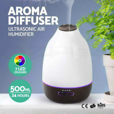 500ML Aroma Diffuser Humidifier Air Purifier Air Freshener 7 Colors LED Light Fragrance Diffuser