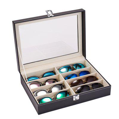 Leather Multi Sunglasses Organizer  Eyeglasses Eyewear Display Case Sunglass Storage Holder Box