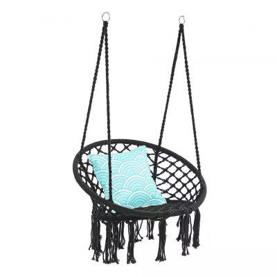 Round Hammock Chair Swinging Hanging Single Safety Chair Hammock Outdoor Indoor Dormitory Bedroom Yard For Child Adult