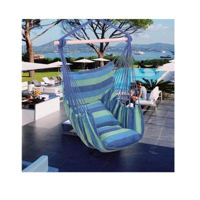 Hammock Chairs Hanging Rope Chair Swing Chair with Pillows Hammock Stand Chair Swing Distinctive Cotton Canvas Swinging Furniture