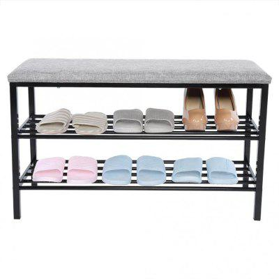 2 Tier Shoe Rack Organizer Entryway Shoe Storage Shower Room Old Man Bath Special Seat Shoes Stool Organizer Rack Shoe Stool
